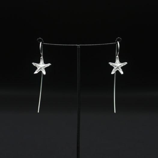 Starfish Silver Longwire Earrings for Women